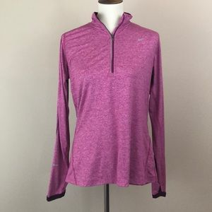 Nike Dri-Fit Running Sweater, Berry-Colored, Large